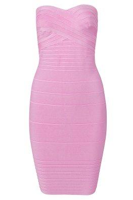 Assorted Colours Sweetheart Bandage Tube Dress