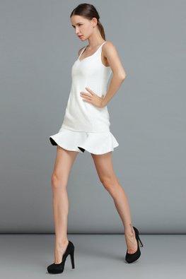 Black / White Reverse Colours Fit and Flare Mini Dress