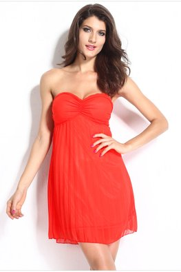 Red Sweetheart Tube Dress (Express)