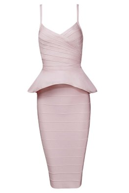 Assorted Colours 2-pc Peplum Bandage Dress (Express)