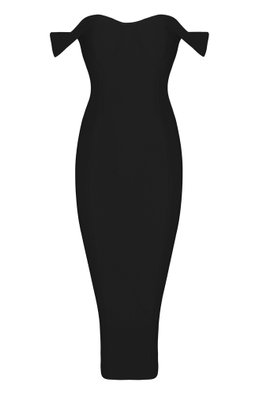 Assorted Colours Sweetheart Brassiere Off-Shoulder Bandage Dress (Express)