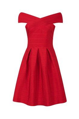 Assorted Colours Off-Shoulder A-Line Pleated Bandage Dress