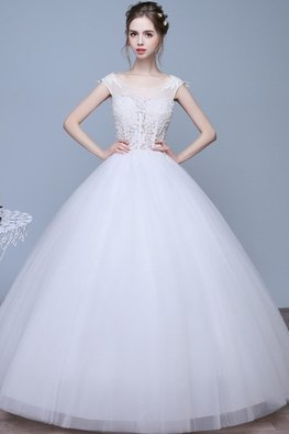 Illusion Neckline Lace Open Back Wedding Gown