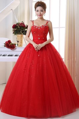 Red Sweetheart Floral Gem Twinkle Skirt Ribbon Sash Gown
