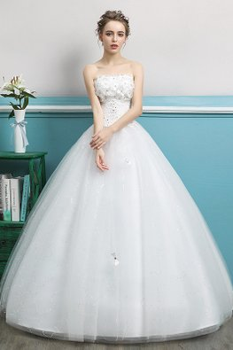 Rosette Sequins Lace Twinkle Skirt Wedding Gown