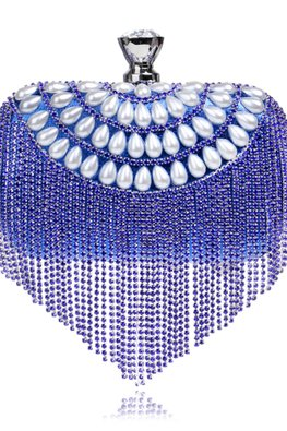 Assorted Colours Pearl Tassels Clutch