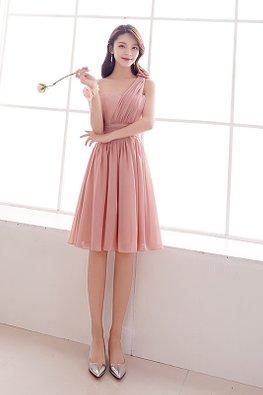 Pink Sweetheart One-Shoulder Rose Lace-up Dress
