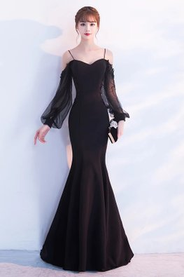 Assorted Colours Sweetheart Drape Sleeves Gown
