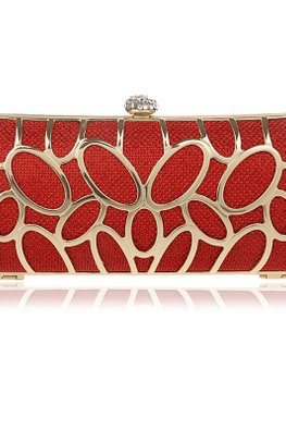 Assorted Colours Rectangular Diamond Clutch
