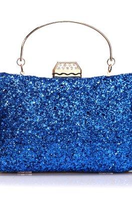 Assorted Colours Rectangular Glitter Pouch