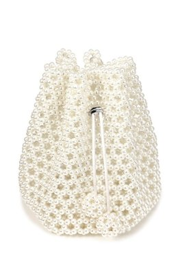 Faux Pearls Pouch Bag