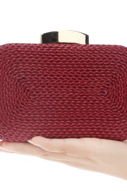 Assorted Colours Woven Metal Clutch