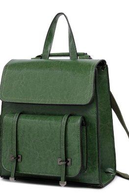 Assorted Colours Squarish Flap Bagpack