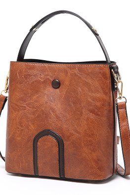 Assorted Colours Leather Bucket Bag