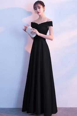 Assorted Colours Off-Shoulder Ribbon Lace Gown