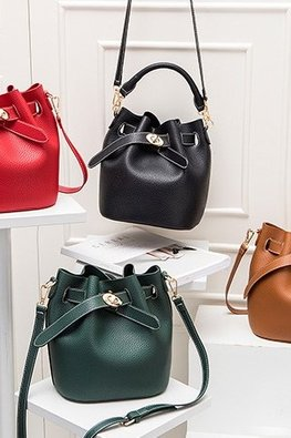 Assorted Colours Bucket Sling Bag