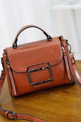 Assorted Colours Rectangular Buckle Bag