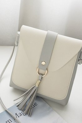 Assorted Colours Square Envelope Sling Bag