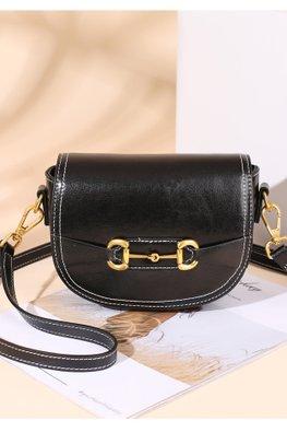 Black / Brown Cow Leather Mini Bag