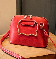 Assorted Colours Cat-Shaped Handle Sling Bag