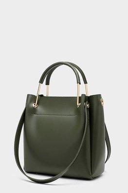 Assorted Colours Metal Handle Hand & Shoulder Bag