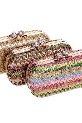 Assorted Colours Stitch Pattern Clutch Bag
