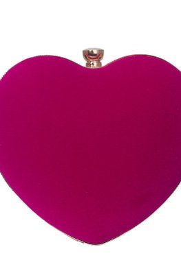 Assorted Colours Heart Shaped Clutch
