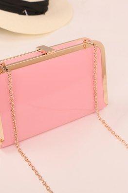 Pink / Yellow Mini Mobile Chain Sling Bag